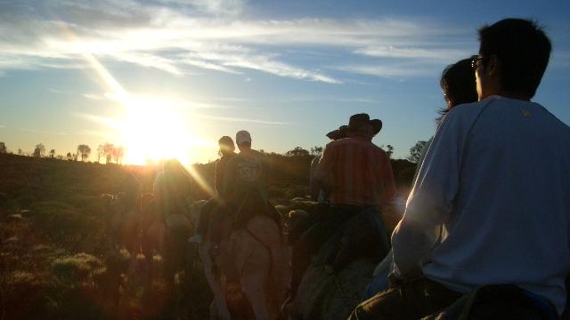 オーストラリア20日目:ラクダに乗ってエアーズロックの日の出を見る!