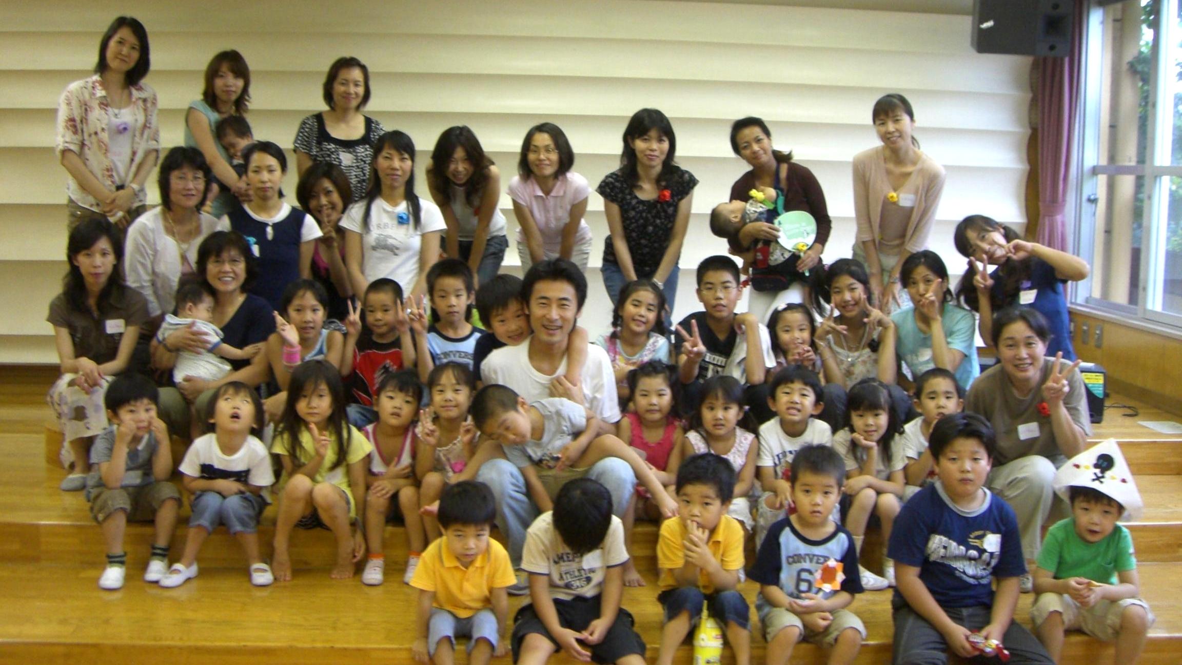 林間のぞみ幼稚園で50名の初ドラムサークルに、またも感動!