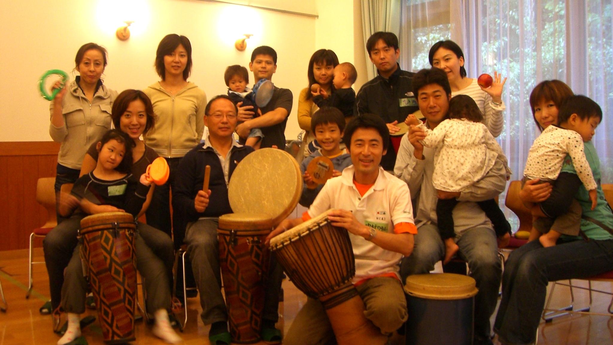 【Woodsキャンプ】朝霧高原で親子向けドラムサークル!