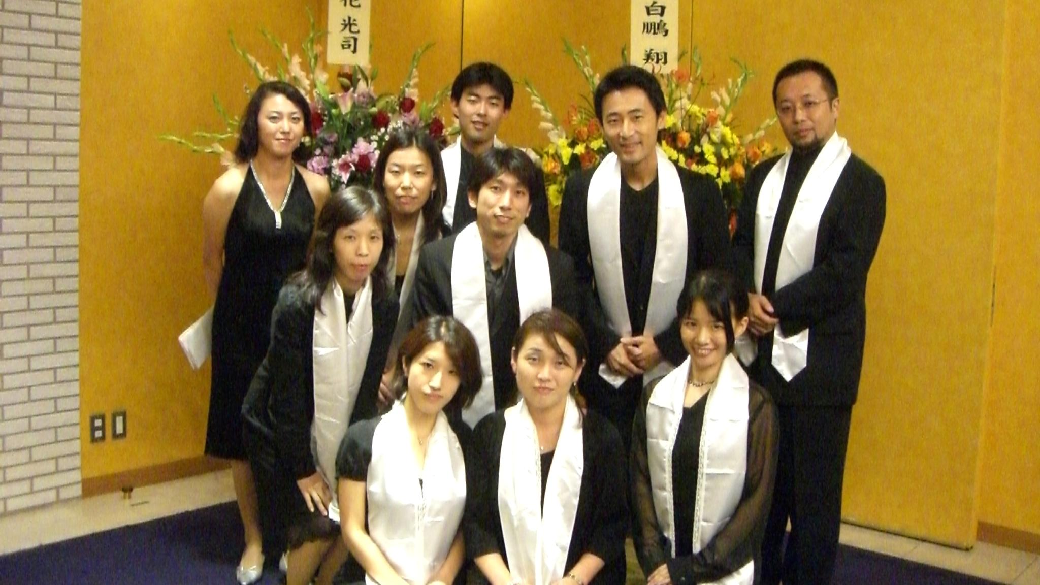 【有志合唱ゴスペル隊】知人の披露宴にて、琴欧州関の目の前で歌う!