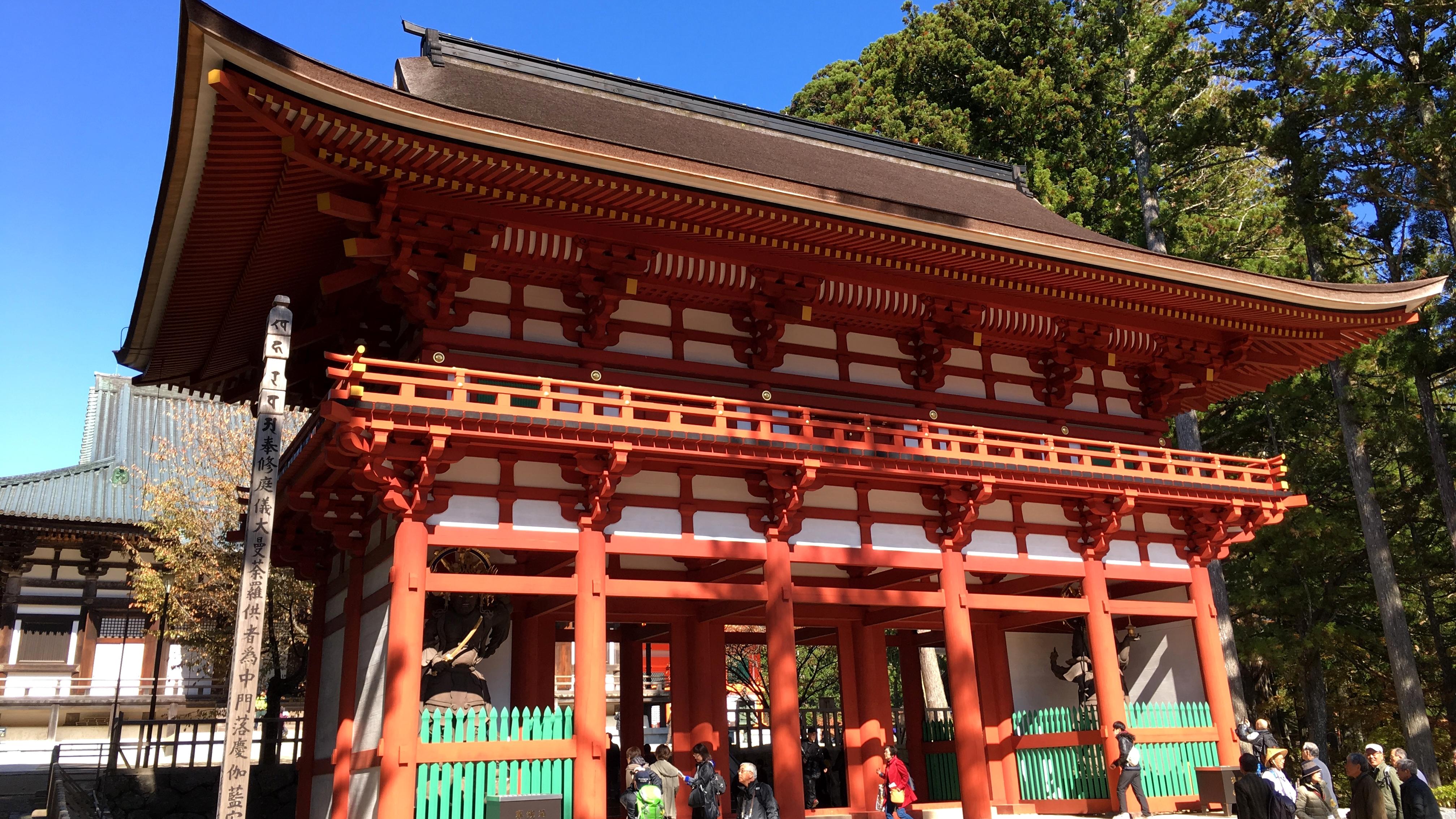 高野山1日目は、壇上伽藍を散策。