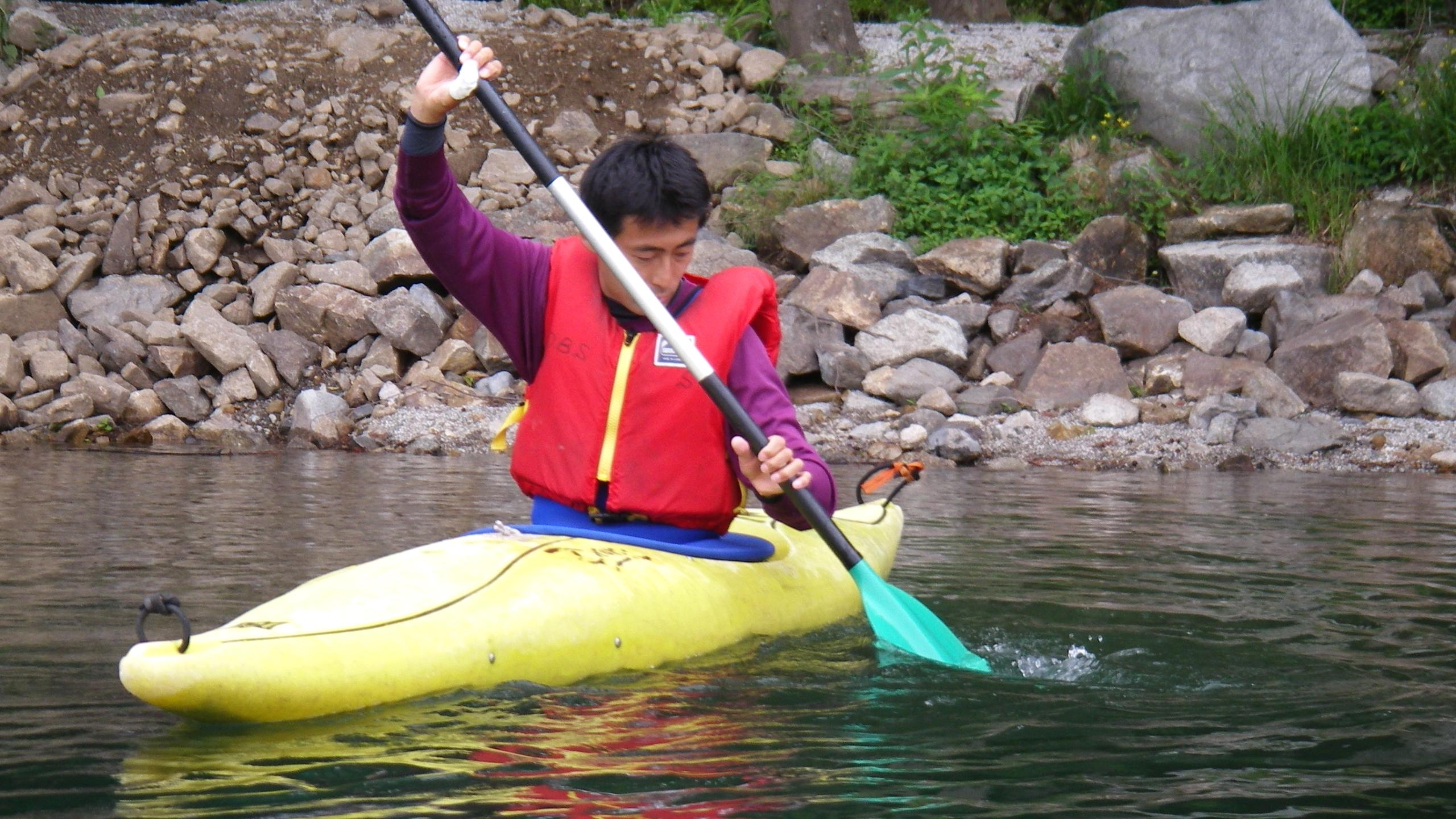 OBS-JALT2006-37日目:青木湖にて静かな水面でのカヤック初体験!